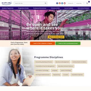 Full-time and Part-time Programmes at Kaplan Singapore