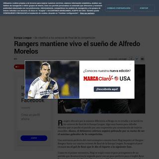 Europa League- Rangers mantiene vivo el sueño de Alfredo Morelos - MARCA Claro Colombia