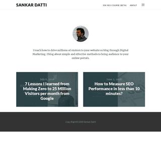 Sankar Datti — SEO Consultant in India