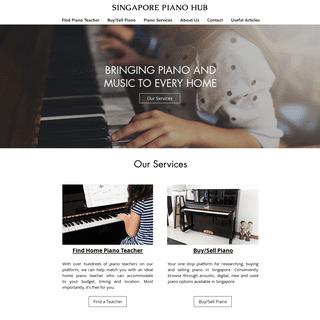Piano Services in Singapore - Singapore Piano Hub