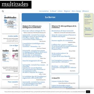 multitudes - revue politique, artistique, philosophique