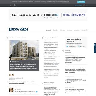 JURISTA VĀRDS - portāls katram Latvijas juristam