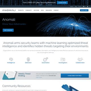 Threat Intelligence Platform - Anomali