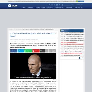 La réaction de Zinedine Zidane après la terrible fin de match du Real Madrid