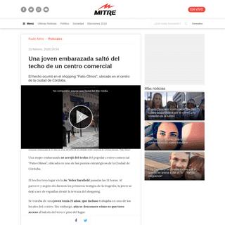Una joven embarazada saltó del techo de un centro comercial - Radio Mitre