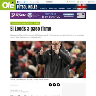El Leeds a paso firme - Olé