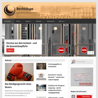 ArchiveBay.com - rechtslupe.de - Rechtslupe - Nachrichten aus Recht und Steuern