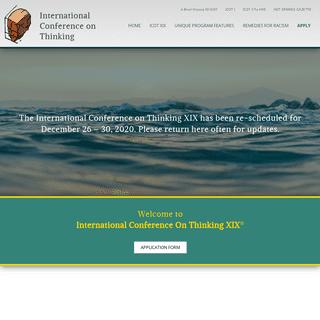 International Conference on Thinking XIX Fiji - April 21-27, 2019