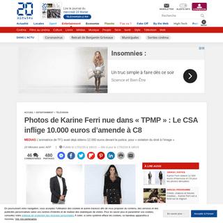 Photos de Karine Ferri nue dans «TPMP»- Le CSA inflige 10.000 euros d'amende à C8