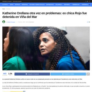 Katherine Orellana otra vez en problemas- ex chica Rojo fue detenida en Viña del Mar
