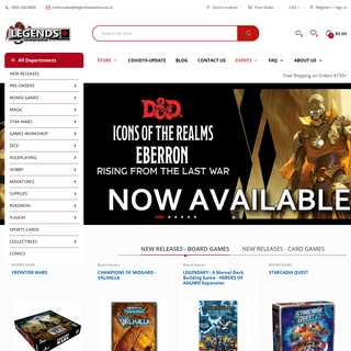 ArchiveBay.com - legendswarehouse.ca - LEGENDS WAREHOUSE.....Great prices on your games everyday!
