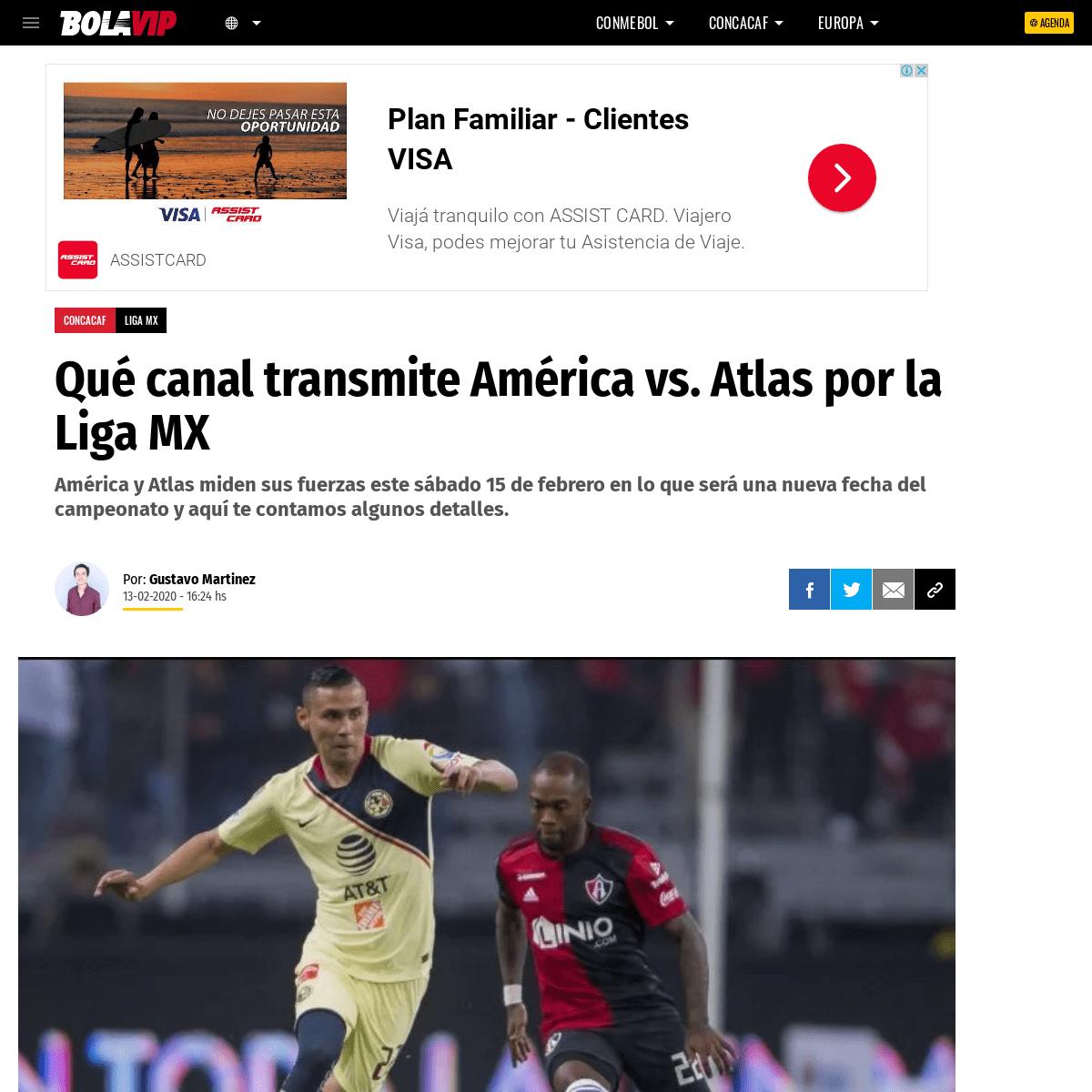 ArchiveBay.com - bolavip.com/concacaf/Que-canal-transmite-America-vs.-Atlas-por-la-Liga-MX-F22-20200213-0144.html - Qué canal transmite América vs. Atlas por la Liga MX - Bolavip