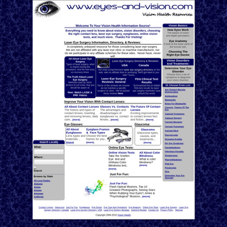 ArchiveBay.com - eyes-and-vision.com - Vision Health - Laser Eye Surgery - Directory - Reviews - Eyeglasses - Contact Lens - Optical Illusions
