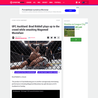 UFC Auckland- Brad Riddell plays up to the crowd while smashing Magomed Mustafaev - Sporting News Australia