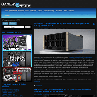 News - Gamers Nexus - Gaming PC Builds & Hardware Benchmarks