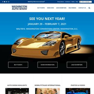 The Washington Auto Show - January 29 - February 7, 2021