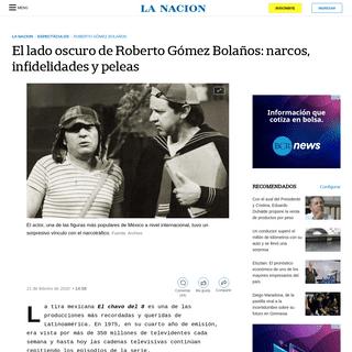 El lado oscuro de Roberto Gómez Bolaños- narcos, infidelidades y peleas - LA NACION