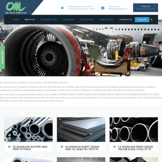 Om Steel Industries - Bars - Pipes - Sheets - Plates - Flanges Suppliers