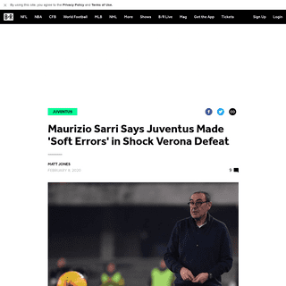 Maurizio Sarri Says Juventus Made 'Soft Errors' in Shock Verona Defeat - Bleacher Report - Latest News, Videos and Highlights