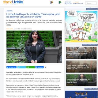 """Lorena Astudillo por Ley Gabriela- """"Es un avance, pero no podemos verla como un triunfo"""" « Diario y Radio U Chile"""