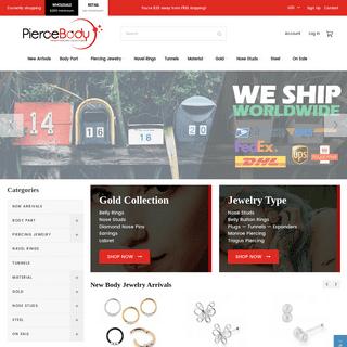 ArchiveBay.com - piercebody.com - Wholesale Body Jewelry - Body Piercing Jewellery Wholesaler