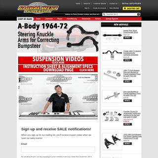 ArchiveBay.com - globalwest.net - Global West Suspension - American Muscle Car Parts
