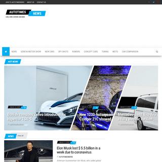 Autotimesnews.com - Cars, news, reviews and more