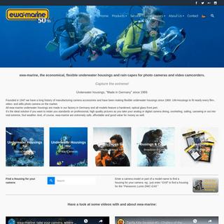 ewa-marine- Underwater housings & rain capes for all cameras