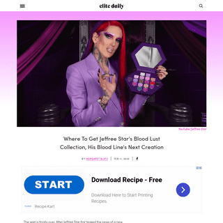 Where To Get Jeffree Star's Blood Lust Collection, His Blood Line's Next Creation