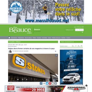 ArchiveBay.com - www.enbeauce.com/actualites/affaires/383131/stokes-devra-fermer-certains-de-ses-magasins-a-travers-le-pays - Stokes devra fermer certains de ses magasins à travers le pays - EnBeauce.com