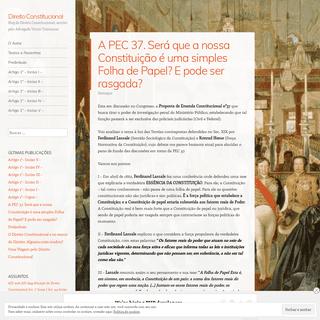 Direito Constitucional – Blog de Direito Constitucional, escrito pelo Advogado Victor Travancas