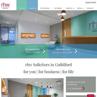 Solicitors in Guildford, Surrey - rhw solicitors - 01483 302000