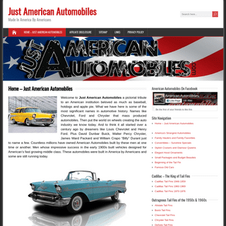 Just American Automobiles - Made In America By Americans