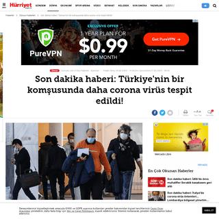 Son dakika haberi- Türkiye'nin bir komşusunda daha corona virüs tespit edildi! - Güncel Haberler