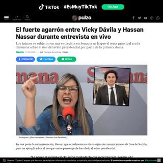 El fuerte agarrón entre Vicky Dávila y Hassan Nassar durante entrevista en vivo