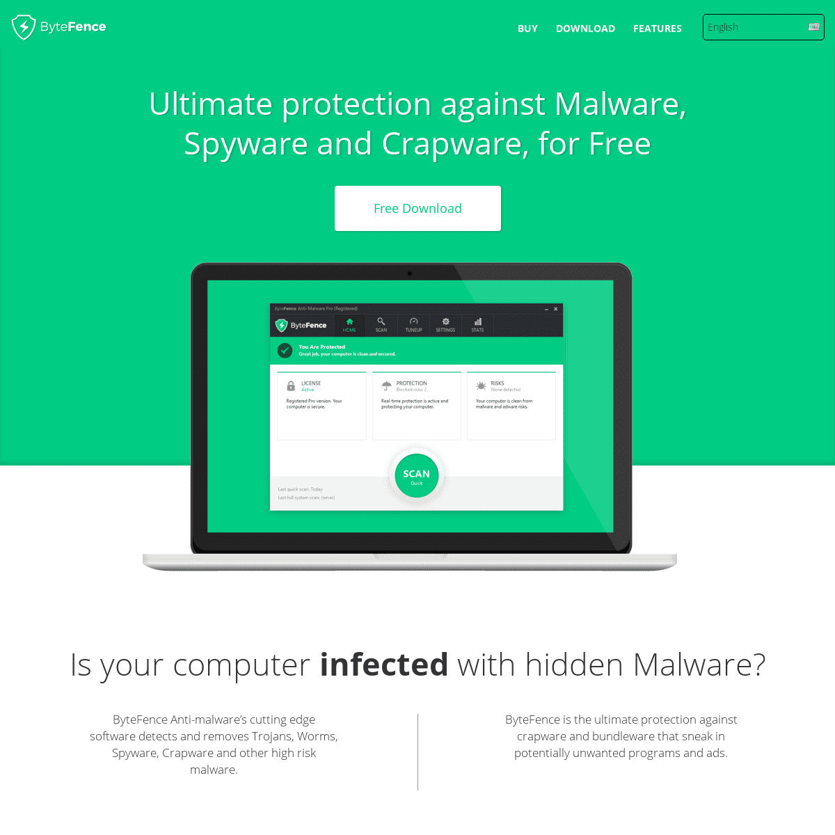 ByteFence - Download Free Antivirus for PC