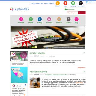 Supermedia dostawca internetu i usług telewizji cyfrowej w Warszawie, Markach i Ząbkach. Posiadamy własną nowoczesną infras