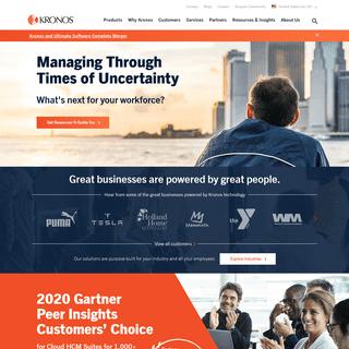 Workforce Management and HCM Cloud Solutions - Kronos