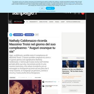 Nathaly Caldonazzo ricorda Massimo Troisi nel giorno del suo compleanno- Auguri ovunque tu sia