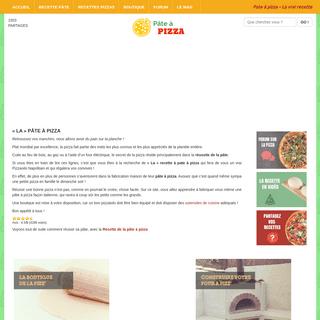 Pate à pizza - La vrai recette - Pâte à Pizza
