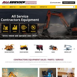 All Service Contractors Equipment - Sales, Rentals, Parts, Repairs