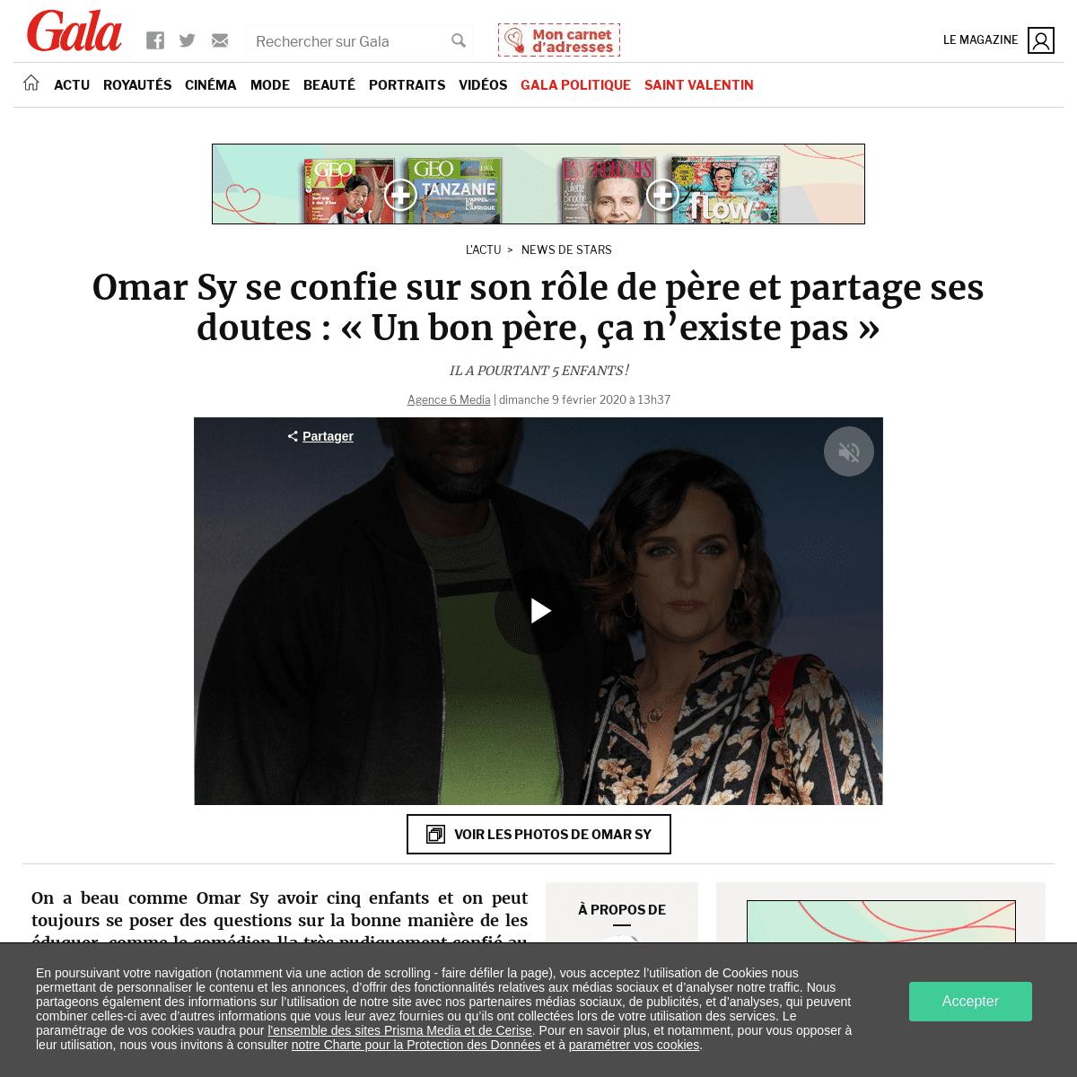 Omar Sy se confie sur son rôle de père et partage ses doutes- «Un bon père, ça n'existe pas» - Gala