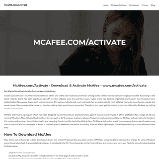 McAfee.com-Activate - Download & Activate McAfee - www.mcafee.com-activate