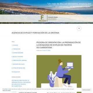 Agencia de Empleo y Formación de La Orotava – Publicamos nuevas oportunidades de empleo y formación. -Un viaje de diez mil k