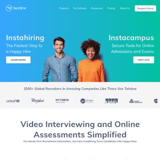 AI Powered Video Interview & Online Assessment Tool - Talview