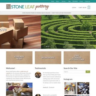 Stone Leaf Pottery - Denver, Colorado - Ceramics, Glazes, Clay, Equipment, Kilns, Tools