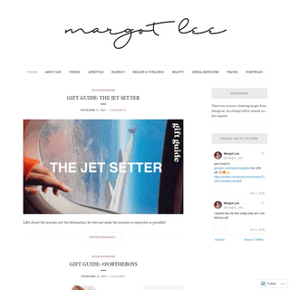 Margot Lee – lifestyle youtuber and blogger