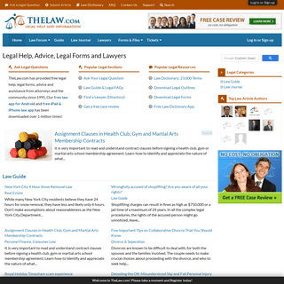 Legal Help, Advice, Lawyers and Legal Forms · TheLaw.com