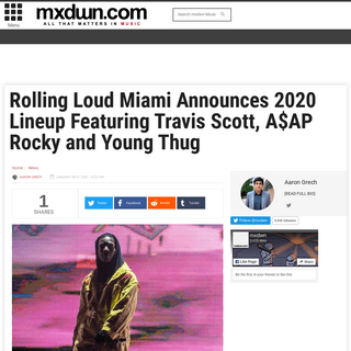 Rolling Loud Miami Announces 2020 Lineup Featuring Travis Scott, A$AP Rocky and Young Thug - mxdwn Music