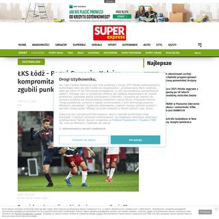 ŁKS Łódź - Pogoń Szczecin- Kolejna kompromitacja przy karnym. Portowcy zgubili punkty w Łodzi - Super Express